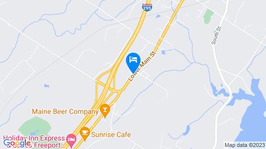 Hampton Inn Freeport/Brunswick Map