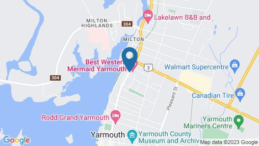 Best Western Mermaid Yarmouth Map