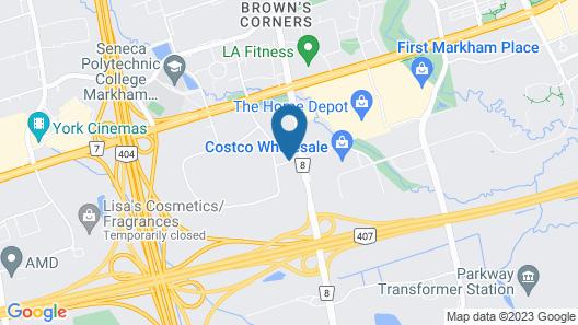 Comfort Inn Toronto Northeast Map