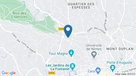 Contemporary Mazet in the heart of Nîmes  Map