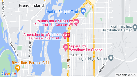 Econo Lodge La Crosse Map
