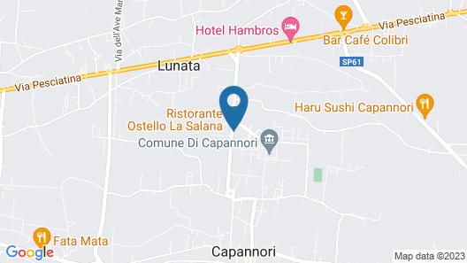 Ostello La Salana Map