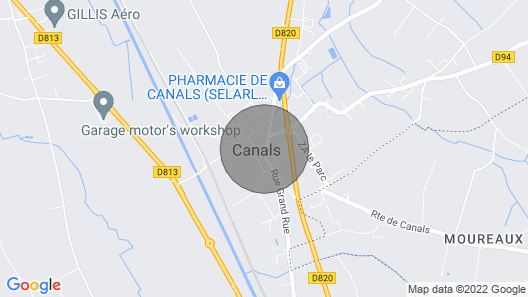2 Bedroom Accommodation in Canals Map