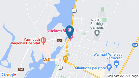 Lakelawn B&B Motel Map