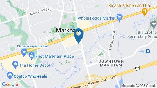 Hilton Toronto/Markham Suites Conference Centre & Spa Map