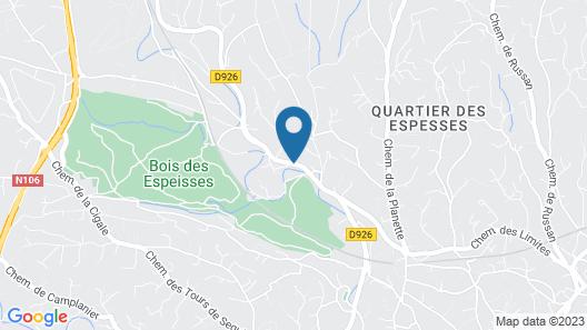 Hôtel Bois des Espeisses Map
