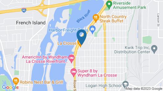 Motel 6 La Crosse, WI Map