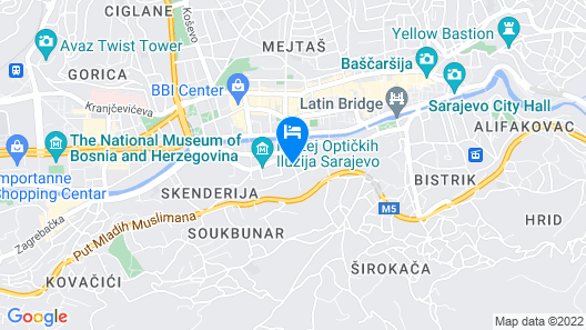 Residence Inn by Marriott Sarajevo Map