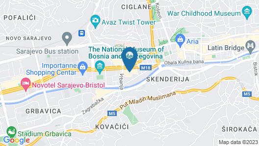 Swissotel Sarajevo Map