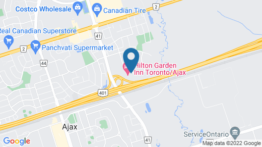 Hilton Garden Inn Toronto/Ajax Map