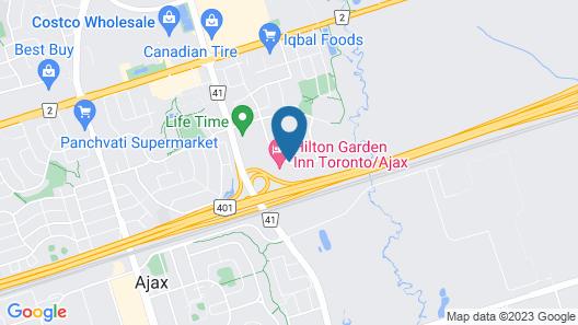 Homewood Suites Ajax, Ontario, Canada Map