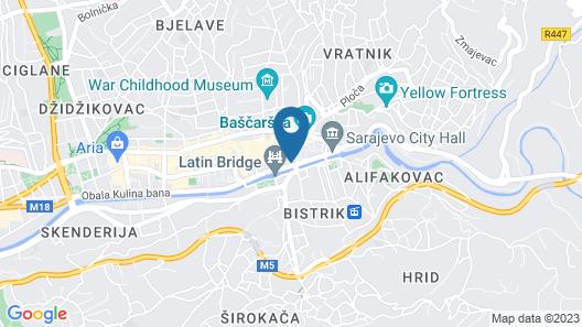 Hotel President Sarajevo Map