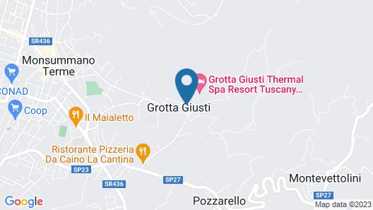 Grotta Giusti Map