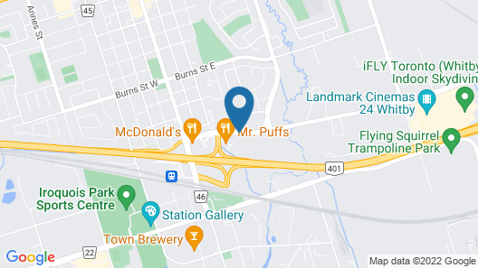 Motel 6 Whitby, ON - Toronto East Map