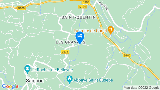 Quiet House with pool in the middle of LUBERON Map