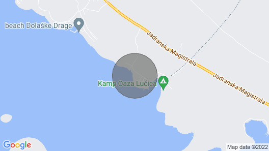 Drage, Kamp Buqez ECO Resort Map