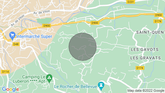 2 Bedroom Accommodation in Saignon Map