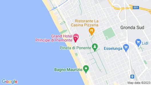 Grand Hotel Principe di Piemonte Map