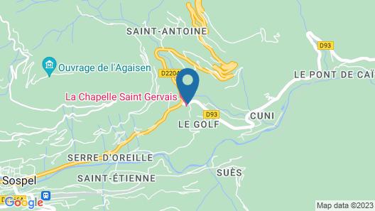 La Chapelle Saint Gervais Map