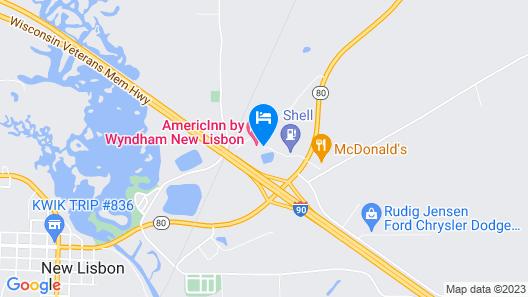 AmericInn by Wyndham New Lisbon Map