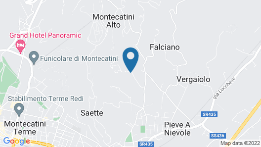 Bright Farmhouse in Montecatini Terme With Swimming Pool Map