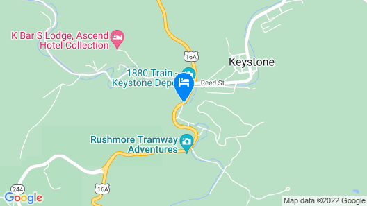Quality Inn Keystone near Mount Rushmore Map