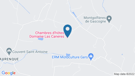 Chambres d'Hotes Las Caneres Map