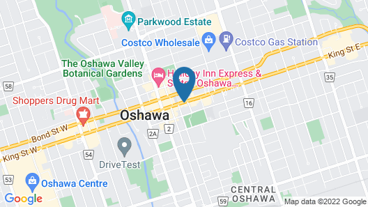 Hotel Oshawa Downtown Map