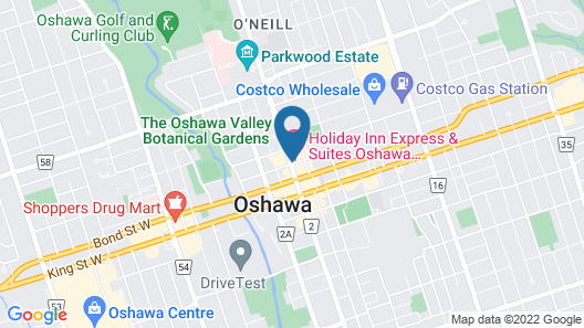 Holiday Inn Express & Suites Oshawa Downtown - Toronto Area, an IHG Hotel Map