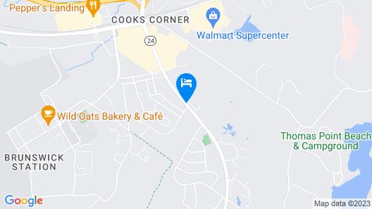 Best Western Plus Brunswick Bath Map