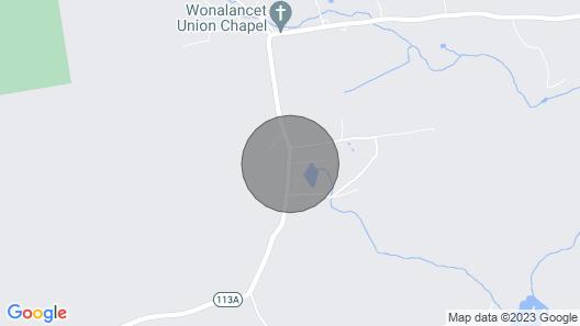 Tentrr - Pondwood Pines in Wonalancet Map