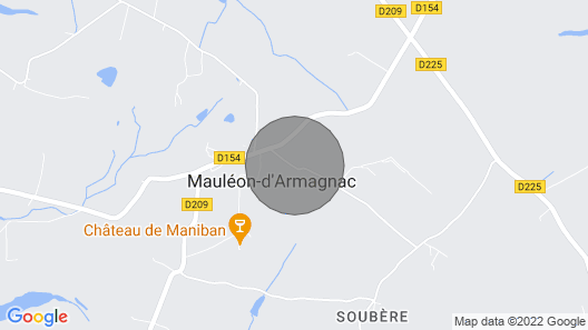 Chalet with pool, 4 people (6 possible) Mauleon d'Armagnac, GERS (32) Map