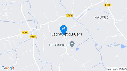 Le Castel Pierre de Lagraulet Map