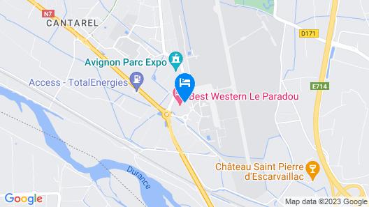 Best Western Le Paradou Avignon - Sud Map