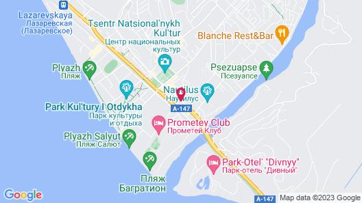 Planeta Hotel Map
