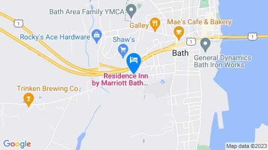 Residence Inn Bath Brunswick Area Map