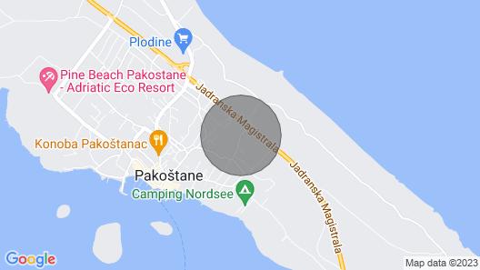 Pakostane - Apartment «JUSTINA» 2 BedRooms - 2 BathRoom - Kitchen Map