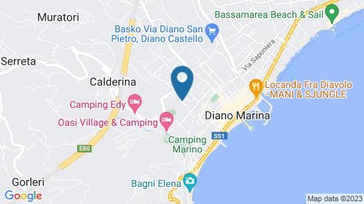 Hotel Delle Mimose Map