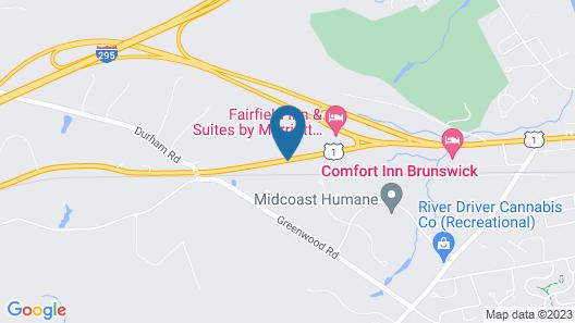 Fairfield Inn & Suites by Marriott Brunswick Freeport Map
