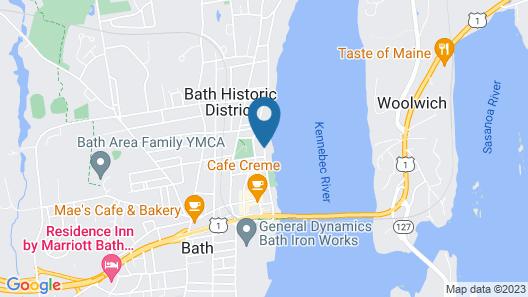 Hampton Inn Bath (Brunswick Area) Map