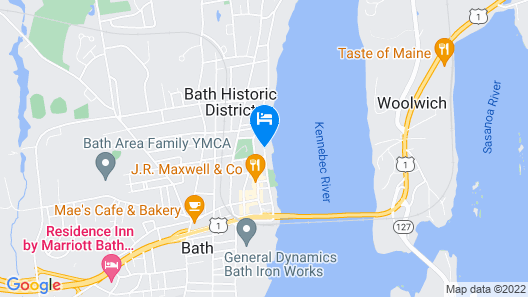 Hampton Inn Bath (Brunswick Area) Map