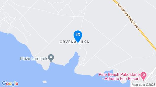 Crvena Luka Resort Map