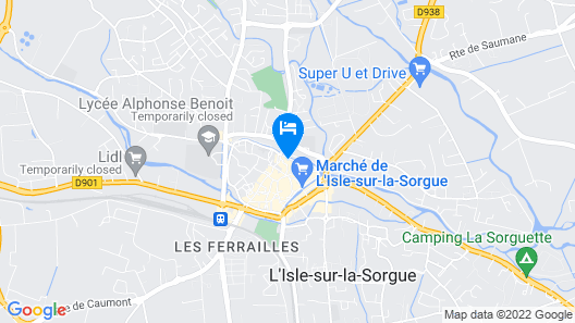 Cozy Nest In The Center Of Isle Sur La Sorgue For 4 People Map