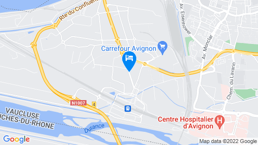 Aparthotel Adagio access Avignon Map