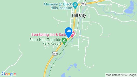 Quality Inn Near Mount Rushmore Map