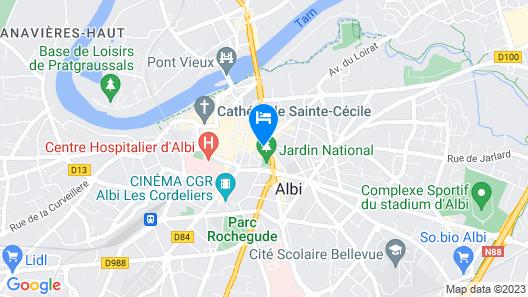Hôtel du Vigan Map