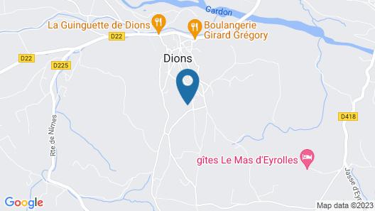 LE MAS DES VIGNES DE DIONS Map