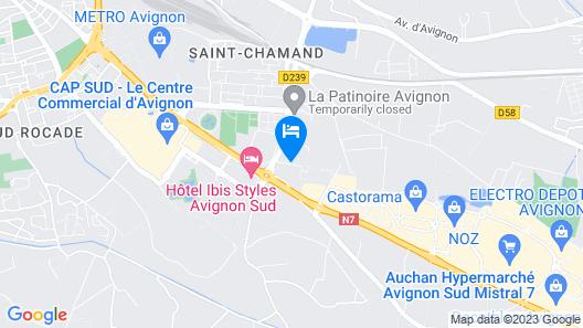 Hotel Kyriad Avignon - Centre Commercial Cap Sud Map