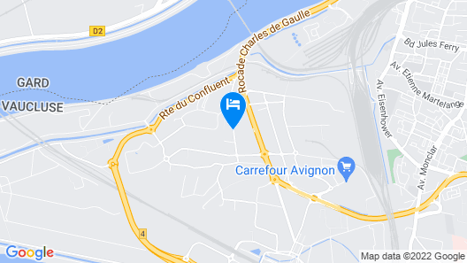 Confortel Avignon Map