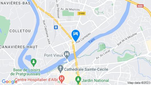 The Originals City, Hôtel Rive Droite, Albi (Ex Cantepau) Map